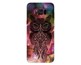 Husa Silicon Soft Upzz Print Samsung Galaxy S8 Model Sparkle Owl