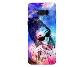 Husa Silicon Soft Upzz Print Samsung Galaxy S8 Model Univers Girl