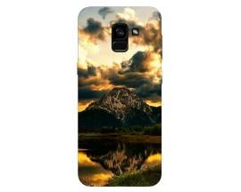 Husa Silicon Soft Upzz Print Samsung Galaxy A8 2018 Model Apus