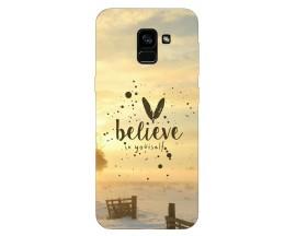 Husa Silicon Soft Upzz Print Samsung Galaxy A8 2018 Model Believe