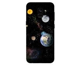 Husa Silicon Soft Upzz Print Samsung Galaxy A8 2018 Model Earth