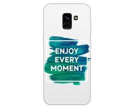 Husa Silicon Soft Upzz Print Samsung Galaxy A8 2018 Model Enjoy