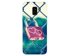 Husa Silicon Soft Upzz Print Samsung Galaxy A8 2018 Model Heart Lock
