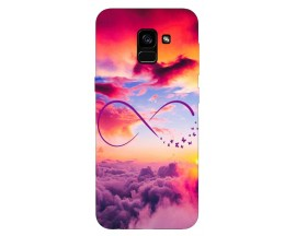 Husa Silicon Soft Upzz Print Samsung Galaxy A8 2018 Model Infinity