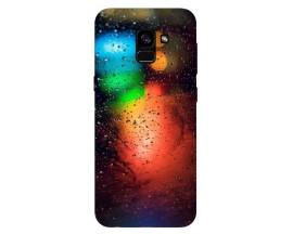 Husa Silicon Soft Upzz Print Samsung Galaxy A8 2018 Model Multicolor