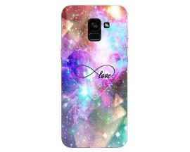 Husa Silicon Soft Upzz Print Samsung Galaxy A8 2018 Model Neon Love