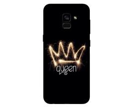 Husa Silicon Soft Upzz Print Samsung Galaxy A8 2018 Model Queen