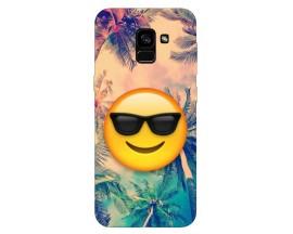 Husa Silicon Soft Upzz Print Samsung Galaxy A8 2018 Model Smile