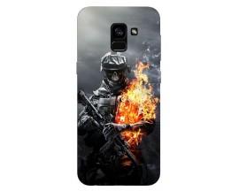 Husa Silicon Soft Upzz Print Samsung Galaxy A8 2018 Model Soldier