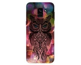 Husa Silicon Soft Upzz Print Samsung Galaxy A8 2018 Model Sparkle Owl