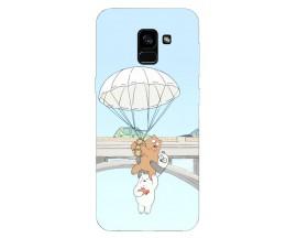 Husa Silicon Soft Upzz Print Samsung Galaxy A8 2018 Model Three Bears