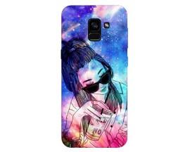 Husa Silicon Soft Upzz Print Samsung Galaxy A8 2018 Model Univers Girl