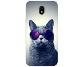Husa Silicon Soft Upzz Print Samsung Galaxy J3 2017 Model Cool Cat