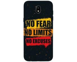 Husa Silicon Soft Upzz Print Samsung Galaxy J3 2017 Model No Fear