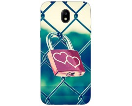 Husa Silicon Soft Upzz Print Samsung Galaxy J7 2017 Model Heart Lock