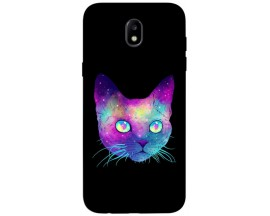 Husa Silicon Soft Upzz Print Samsung Galaxy J7 2017 Model Neon Cat