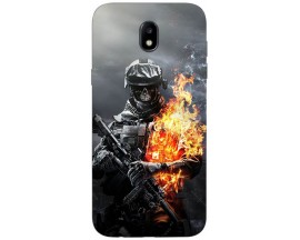 Husa Silicon Soft Upzz Print Samsung Galaxy J7 2017 Model Soldier