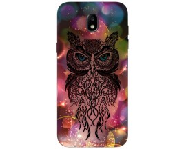 Husa Silicon Soft Upzz Print Samsung Galaxy J7 2017 Model Sparkle Owl