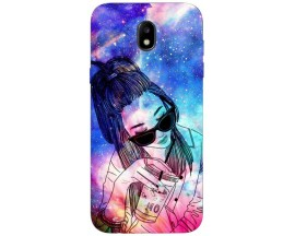 Husa Silicon Soft Upzz Print Samsung Galaxy J7 2017 Model Univers Girl