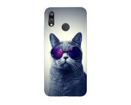 Husa Silicon Soft Upzz Print Huawei P20 Lite Model Cool Cat