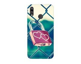 Husa Silicon Soft Upzz Print Huawei P20 Lite Model Heart Lock