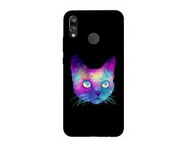 Husa Silicon Soft Upzz Print Huawei P20 Lite Model Neon Cat