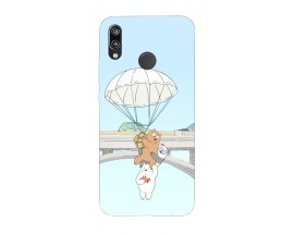 Husa Silicon Soft Upzz Print Huawei P20 Lite Model Three Bears