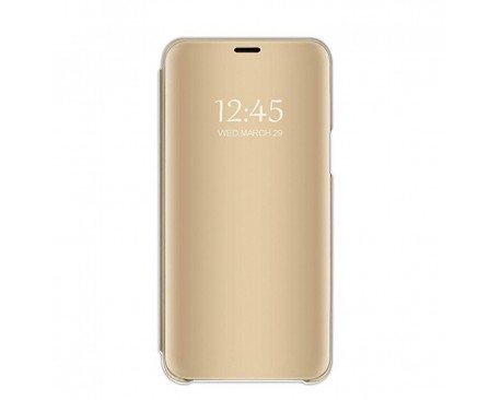 Husa Tip Carte S View Mirror Huawei P30 Gold