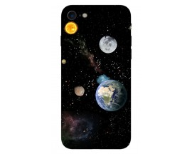 Husa Silicon Soft Upzz Print iPhone 7/iPhone 8 Model Earth