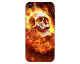 Husa Silicon Soft Upzz Print iPhone 7/iPhone 8 Model Flame Skull