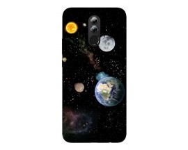 Husa Silicon Soft Upzz Print Huawei Mate 20 Lite Model Earth