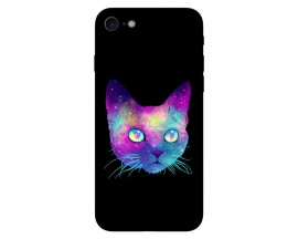 Husa Silicon Soft Upzz Print iPhone 7/iPhone 8 Model Neon Cat