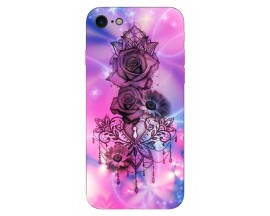 Husa Silicon Soft Upzz Print iPhone 7/iPhone 8 Model Neon Rose
