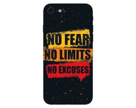 Husa Silicon Soft Upzz Print iPhone 7/iPhone 8 Model No Fear