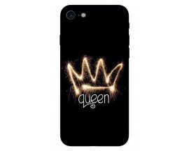 Husa Silicon Soft Upzz Print iPhone 7/iPhone 8 Model Queen