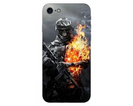 Husa Silicon Soft Upzz Print iPhone 7/iPhone 8 Model Soldier