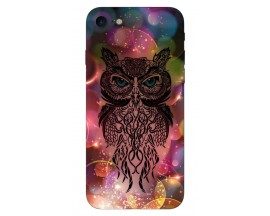 Husa Silicon Soft Upzz Print iPhone 7/iPhone 8 Model Sparkle Owl