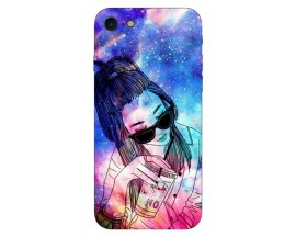 Husa Silicon Soft Upzz Print iPhone 7/iPhone 8 Model Universe Girl