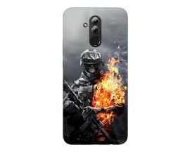 Husa Silicon Soft Upzz Print Huawei Mate 20 Lite Model Soldier