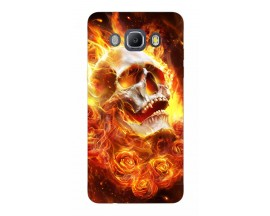 Husa Silicon Soft Upzz Print Samsung J5 2016 Model Flame Skull