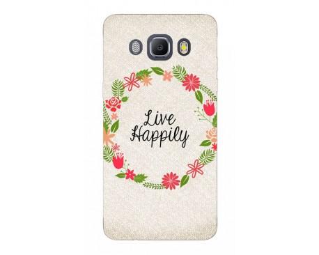 Husa Silicon Soft Upzz Print Samsung J5 2016 Model Happily
