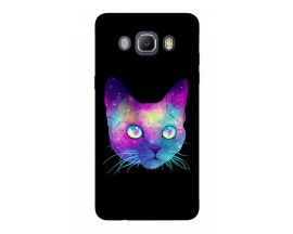 Husa Silicon Soft Upzz Print Samsung J5 2016 Model Neon Cat