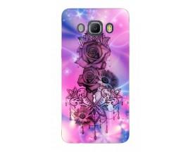 Husa Silicon Soft Upzz Print Samsung J5 2016 Model Neon Rose