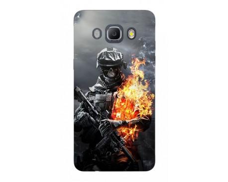 Husa Silicon Soft Upzz Print Samsung J5 2016 Model Soldier