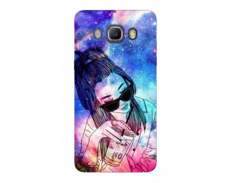 Husa Silicon Soft Upzz Print Samsung J5 2016 Model Universe Girl