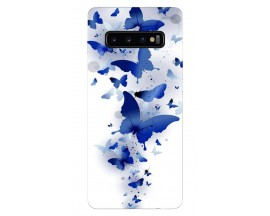 Husa Silicon Soft Upzz Print Samsung Galaxy S10 Model Blue Butterflyes