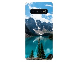 Husa Silicon Soft Upzz Print Samsung Galaxy S10 Model Blue