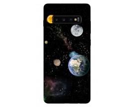Husa Silicon Soft Upzz Print Samsung Galaxy S10 Model Earth