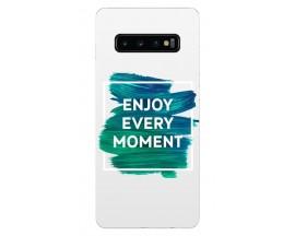 Husa Silicon Soft Upzz Print Samsung Galaxy S10 Model Enjoy