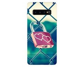 Husa Silicon Soft Upzz Print Samsung Galaxy S10 Model Heart Lock
